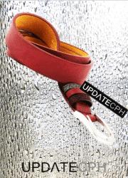 UPDATECPH bælte med glitter stropper. Rød