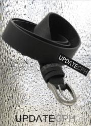 UPDATECPH bælte med glitter stropper. Sort
