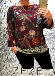 ZE-ZE Bliss bluse med print