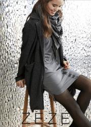 ZE-ZE Delia cardigan/jakke med struktur. Sort