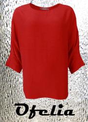 OFELIA Dolores bluse. Rød