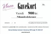 Gavekort 900 kr.