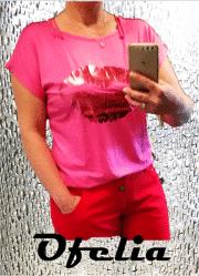 OFELIA Kiss t-shirt. Pink