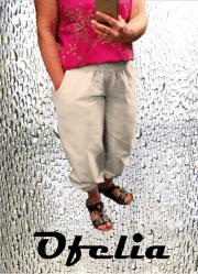 OFELIA Kitta pirat bukser. Sand