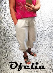 OFELIA Kitta pirat bukser. Hvid