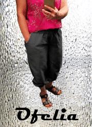 OFELIA Kitta pirat bukser. Sort