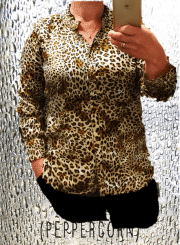 PEPPERCORN Lovisa skjorte med dyreprint
