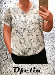 OFELIA Lillian bluse. Print 1