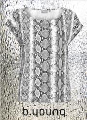 Paru t-shirt. Sort/grå print