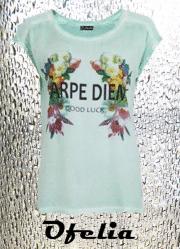 OFELIA Silje t-shirt. Mintgrøn