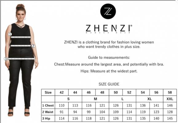 Størrelsesguide Zhenzi