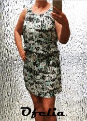 OFELIA Tilla kjole. Grøn