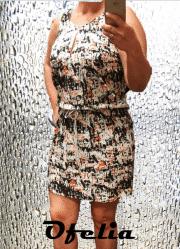 OFELIA Tilla kjole. Orange