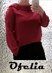 Ofelia Veronika bluse - Dyb rød