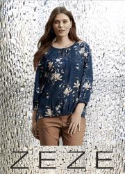 ZE-ZE Polda bluse med print