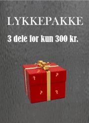 Lykkepakke. 3 dele for 300 kr.